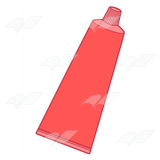 Red Toothpaste Tube