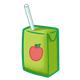 Apple Juice Box with a straw