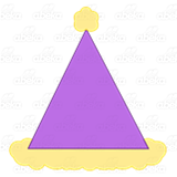Purple Triangle Hat