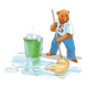Bear 5 Mopping with puddle