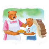 Mom Bear Giving Pie