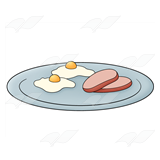 Ham and Eggs Plate