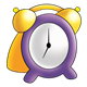 Alarm Clock purple and yellow