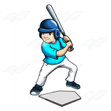 Blue Baseball Batter