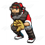 Red Baseball Catcher
