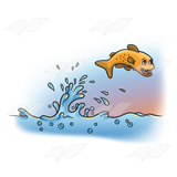 Splashing Fish