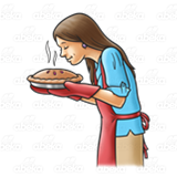 Lady Smelling Pie