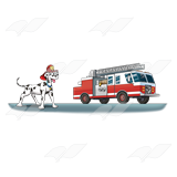 Fire Engine and Dog