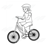 Girl Riding Bike