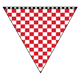 Checkered Triangle red and white