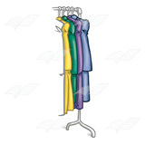 Clothes on Rack