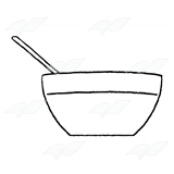Abeka | Clip Art | Mixing Bowl—with spoon