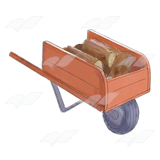 Wood in Wheelbarrow