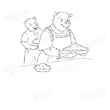 Bear Serving Pie