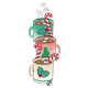 Christmas Mugs with hot chocolate, marshmallows, and candy canes