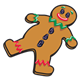Gingerbread Man with raisin buttons and eyes