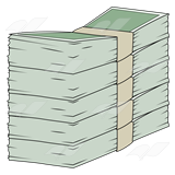 Tall Stack of Money