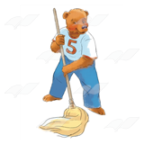 Bear 5 Mopping