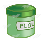 Green Flour Canister