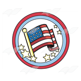 USA Flag Badge