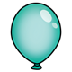 Teal Balloon without string