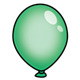 Green Balloon without string