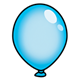 Blue Balloon without string