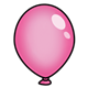 Dark Pink Balloon without string