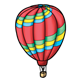 Hot Air Balloon with stripes