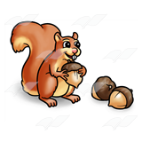 Tan Squirrel with Nuts