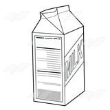 Open Carton of Milk