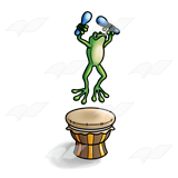 Frog Making Music