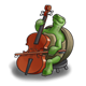 Turtle Making Music playing the cello