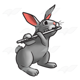 Rabbit with Flute