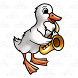 Duck with Saxophone