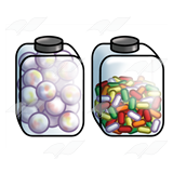 Two Candy Jars