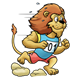 Lion in animal race