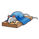 Sleeping Mouse with blue blanket