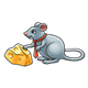 Mouse with Cheese wearing tie