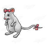 Mouse Wearing Bows