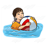 Girl with Beach Ball