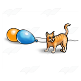 Kitten and Balloons