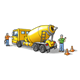 Cement Truck with two workmen