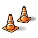 Traffic Cones two, orange