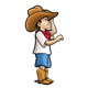 Little Cowboy with boots and cowboy hat