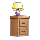 Purple Lamp on End Table
