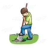 Boy Digging Hole