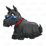 Scottie with Sunglasses