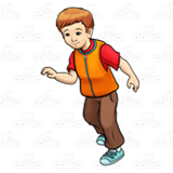 Boy in Orange Vest