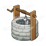 Stone Well with Bucket